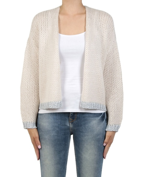Giselle cardigan oyster front