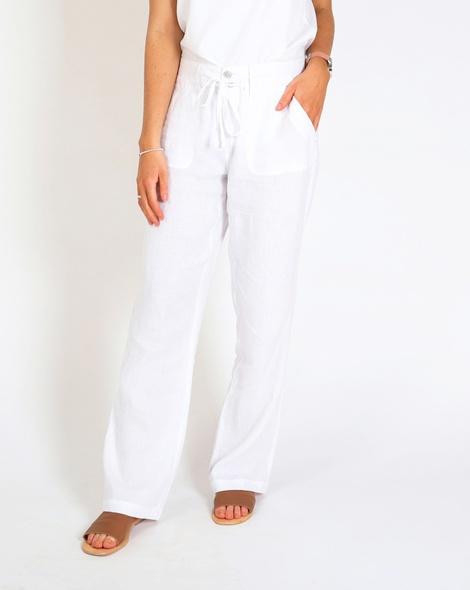 Skylar linen pant white A