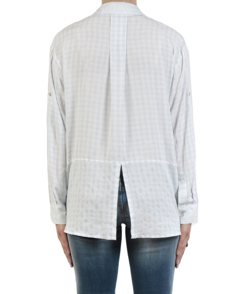 Gingham multi shirt sky back copy