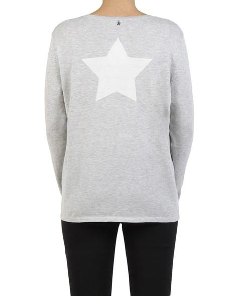 V Star back sweater grey back