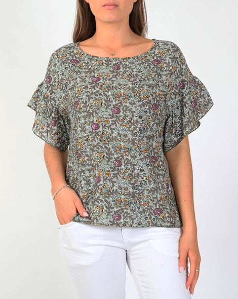 Ditzy fiori top new green A