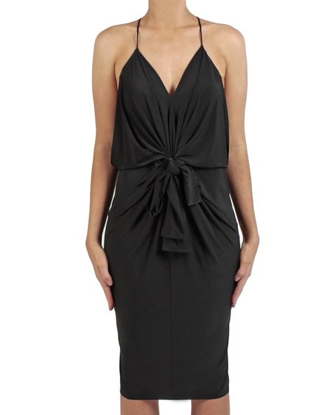 Hayden dress black front bow copy