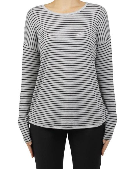 extended shoulder stripe grey A