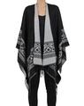 Aztec poncho front black copy