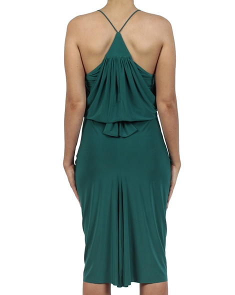 Hayden Dress emerald back