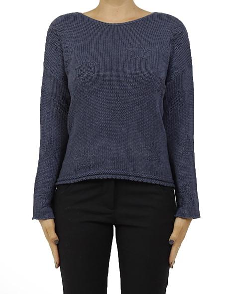 Astrip knit navy new A