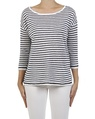Simple stripe pullover navy front copy