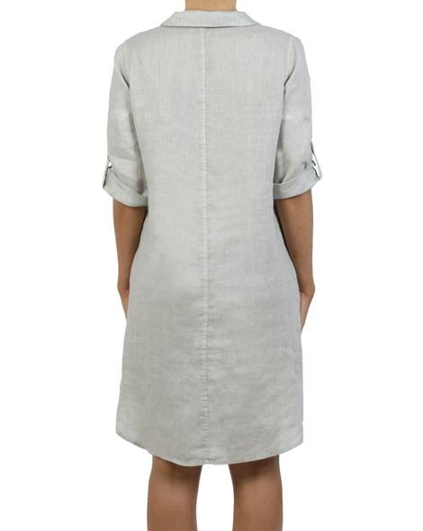 Roll up sleeve denim skirt ash B