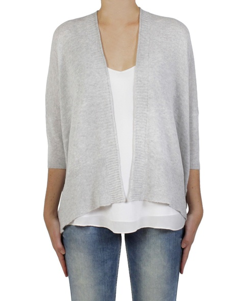 Chara crop cardigan silver (1) copy