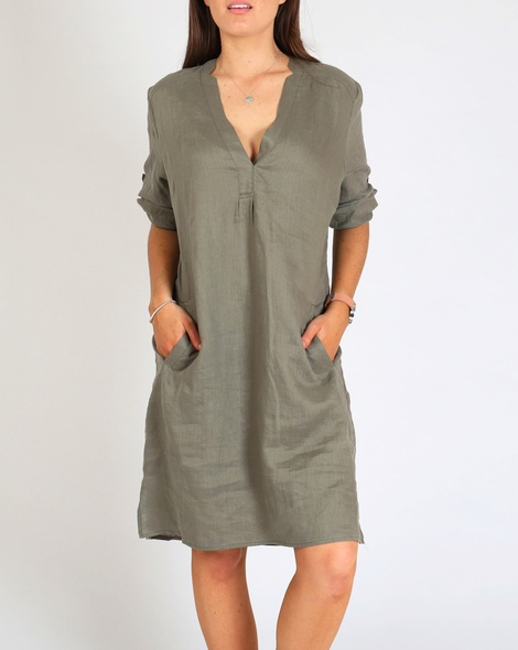 Brielle Dress khaki A