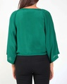 Silk lotus top emerald B