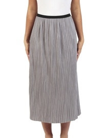 Pleats Midi Skirt