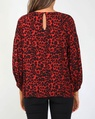 Leopard steffi top red (2)