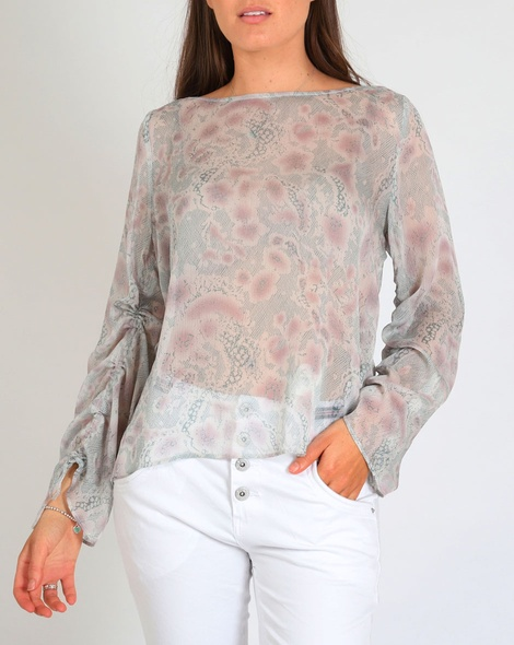 printed posie top A