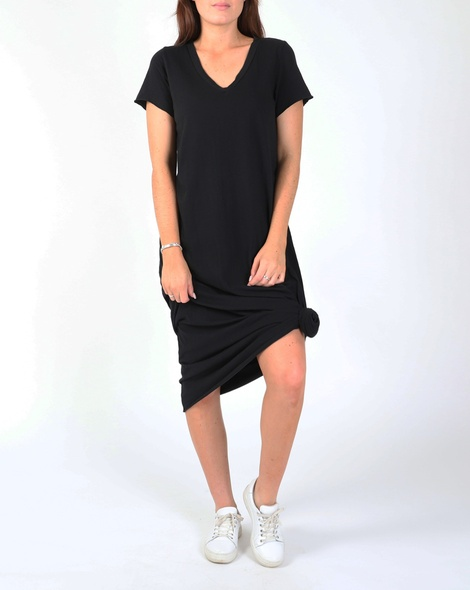 COTTON SHIRT DRESS blk