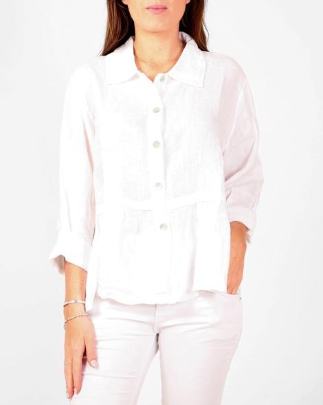 Sahara linen shirt white A copy