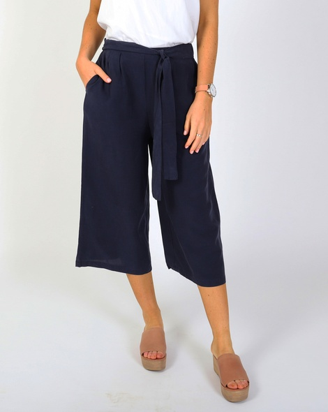 Tie front flare pant A