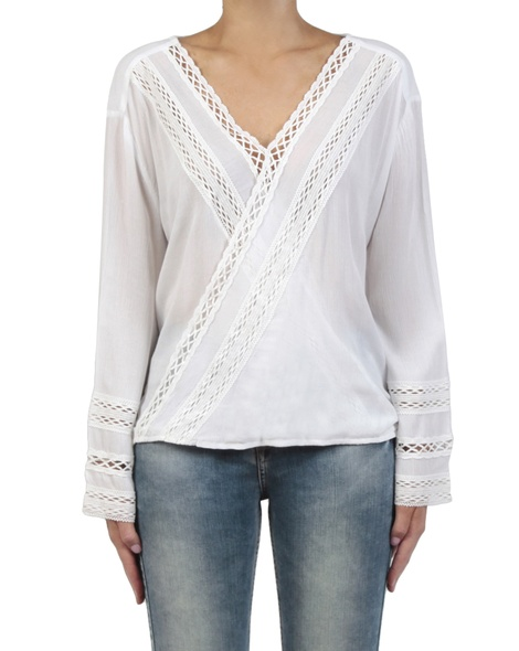 Leila top white front