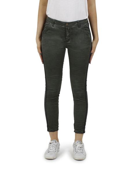 Ivy stripe jeans olive A