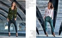 silk velvet jacket and razi frill top copy