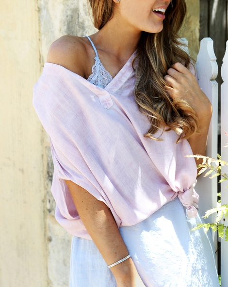 Shiona Slip dress sky + Thea top pink (11)