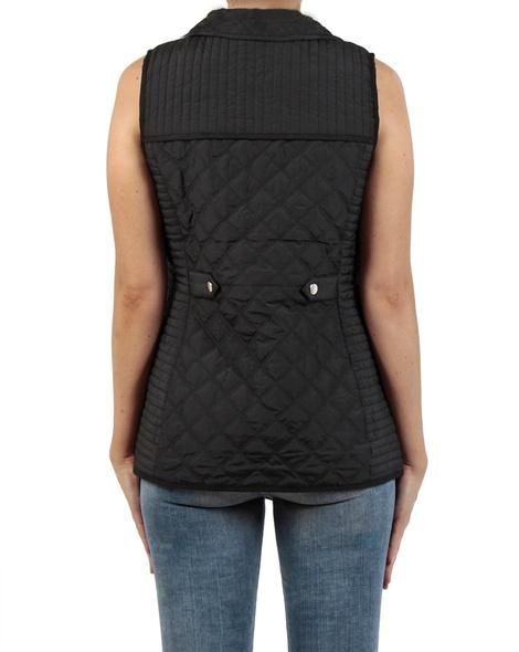 Sport Luxe Puffer Vest black back