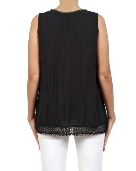 Marcel top black back