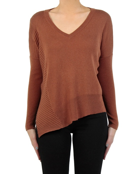 Dixie Rib knit tobacco front