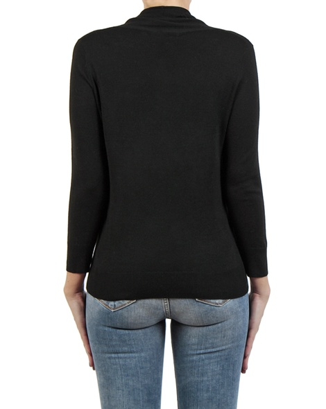 Carrie Wrap Knit black back copy