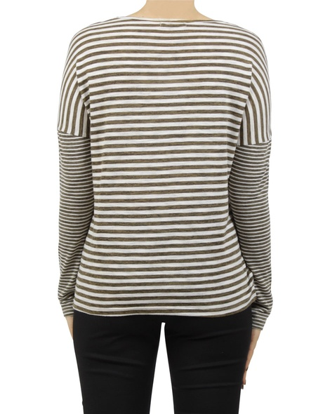 stripey lennon top khaki B