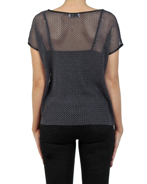 Marlow knit charcoal back