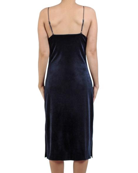 Eva velvet slip dress sapphire back copy
