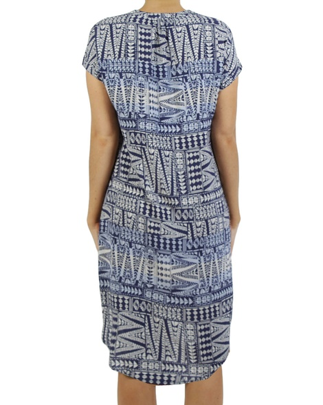 Printed shoulder dress B copy