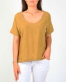 Joely top mustard A