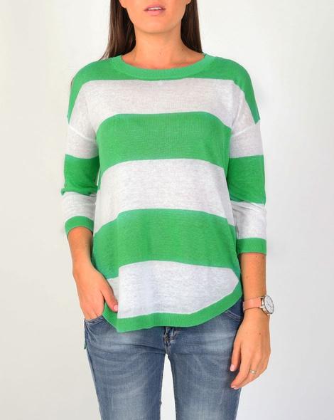 wide stripe pull over greenA