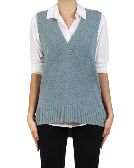 Leona Vest Duck egg front copy