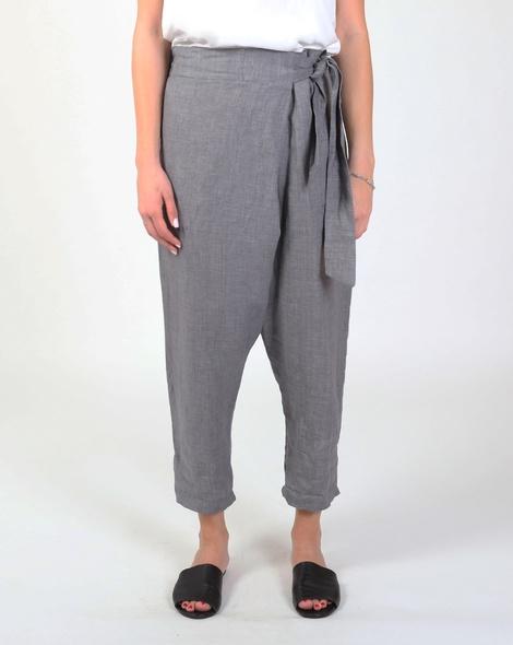 Brodie wrap pant grey A