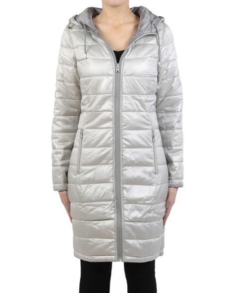 Galaxy puffer jacket grey silver front zipper R copy