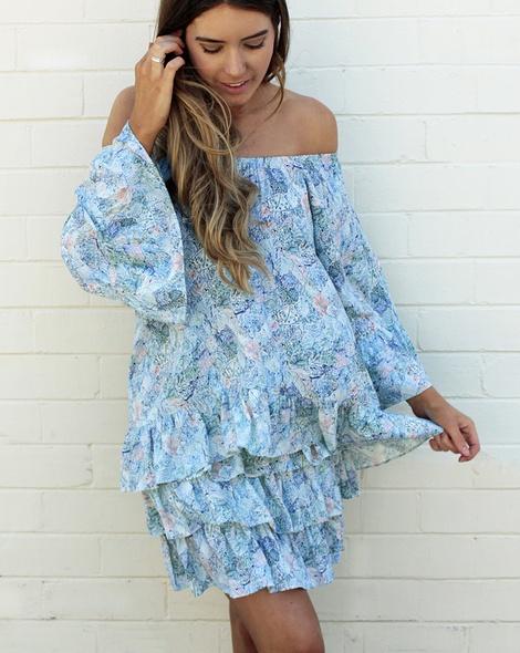 Sicily Posie Skirt + flamenco top blue (14)