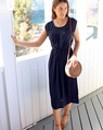 Annie dress navy (95)