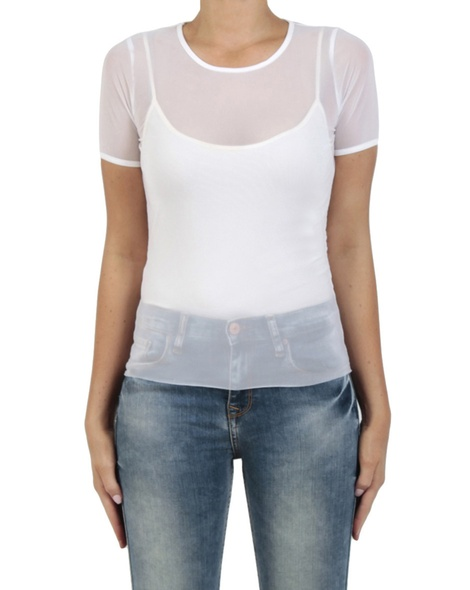 Revolver cap sleeve top white front copy