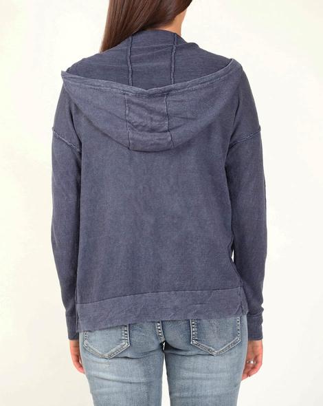Boyfriend hoodie cardi blue B