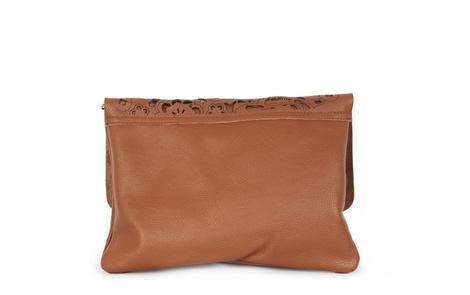 flower handbag tan D