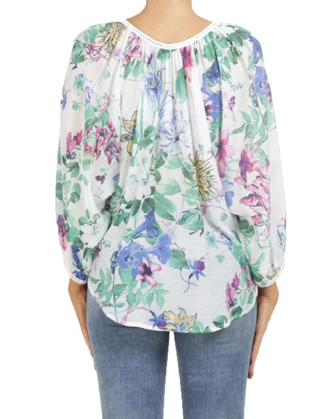 floral mandalay top white B