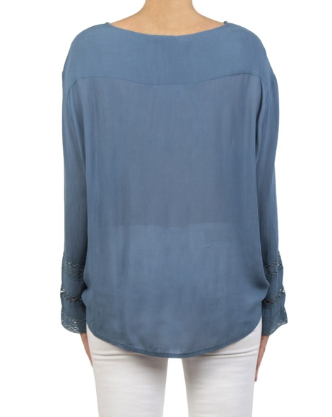 Leila top denim back