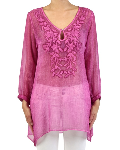Ophelia Kaftan hot pink front copy