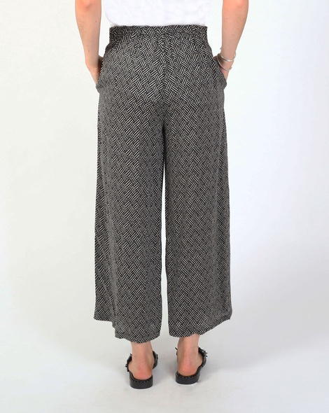 Jamy tie pant blk and white B