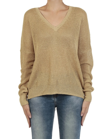 Metallic Knit gold front