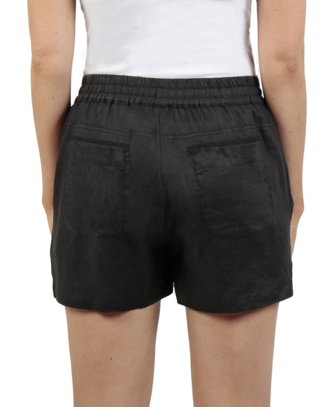 Tully linen short black back copy