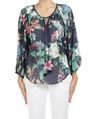 floral mandalay top blue A
